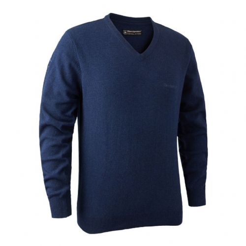 Deerhunter Brighton  V Neck Pullover: Blue Mix